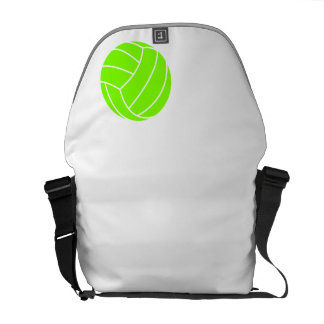 Chartreuse Neon Green Volleyball Courier Bags