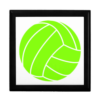 Chartreuse, Neon Green Volleyball Keepsake Box