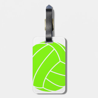Chartreuse, Neon Green Volleyball Luggage Tag