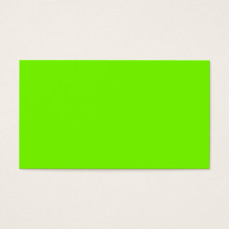 Chartreuse Neon Yellow Green Color Only Tools Business Card