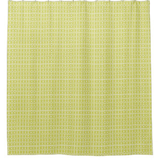Chartreuse-Royalty-Plaid's-Traditional-Bath-Decor Shower Curtain
