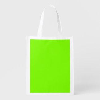 Chartreuse Reusable Grocery Bag