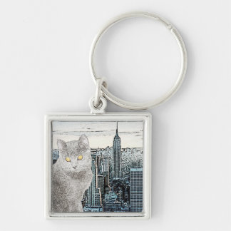 Chartreux in New York City Key Ring