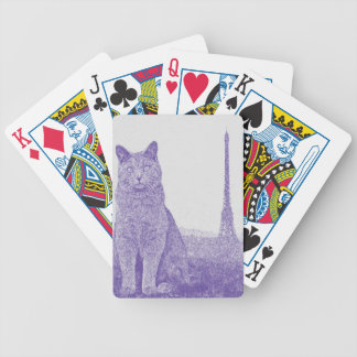Chartreux in Paris Bicycle Playing Cards