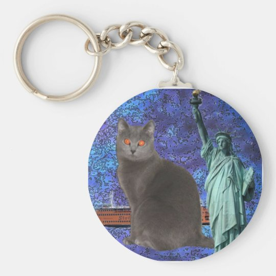Chartreux NYC Basic Round Button Key Ring