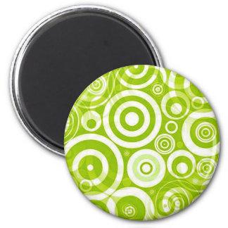 chartruse_retro_circles fridge magnet