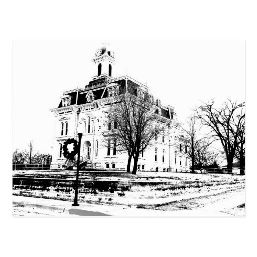 Chase County Kansas courthouse Post Cards