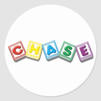 Chase Round Stickers