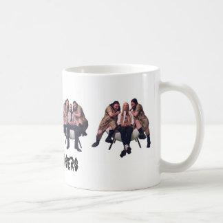 Chase the morning! basic white mug