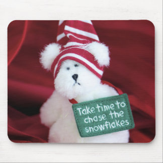 Chase the Snowflakes Mouse Pad
