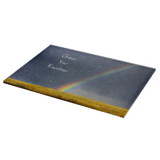Chase Your Rainbow Cutting Board Inspirational