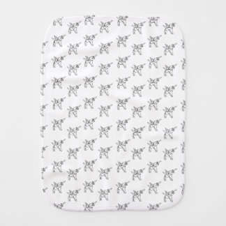 Chasin' Unicorns Geometric Crystal Unicorn Pattern Baby Burp Cloths