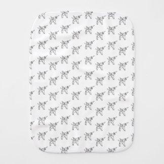 Chasin' Unicorns Geometric Crystal Unicorn Pattern Burp Cloth