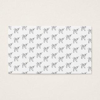 Chasin' Unicorns Geometric Crystal Unicorn Pattern Business Card