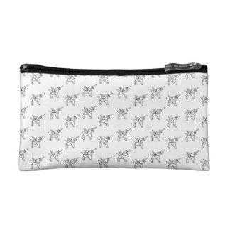 Chasin' Unicorns Geometric Crystal Unicorn Pattern Cosmetic Bag