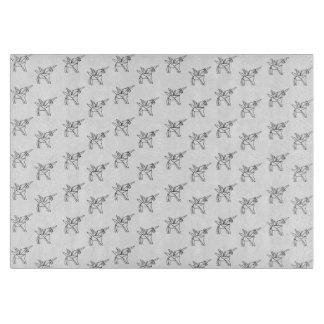 Chasin' Unicorns Geometric Crystal Unicorn Pattern Cutting Board