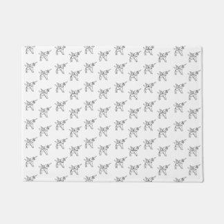 Chasin' Unicorns Geometric Crystal Unicorn Pattern Doormat