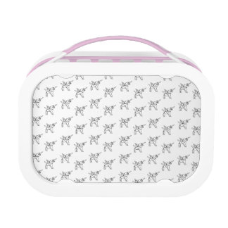 Chasin' Unicorns Geometric Crystal Unicorn Pattern Lunch Box