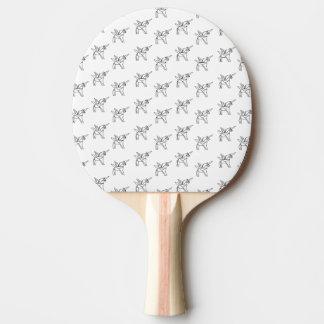 Chasin' Unicorns Geometric Crystal Unicorn Pattern Ping Pong Paddle