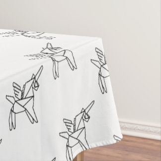 Chasin' Unicorns Geometric Crystal Unicorn Pattern Tablecloth
