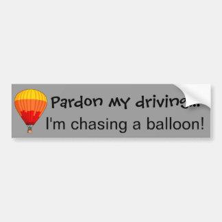 Chasing a Balloon Bumper Sticker