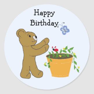 Chasing A Butterfly - Happy Birthday Stickers