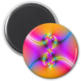 Chasing Butterflies 6 Cm Round Magnet
