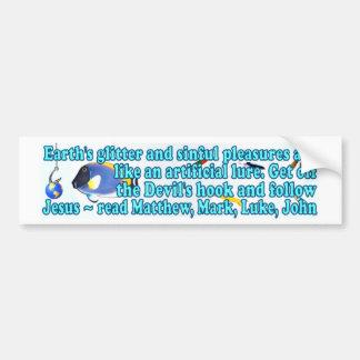 Chasing Earth's glitter isn't worth it :) Bumper Sticker