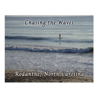 Chasing the Waves Rodanthe Surfer Postcard