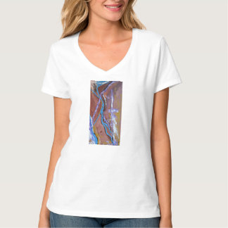 Chasm abstract art tee for ladies