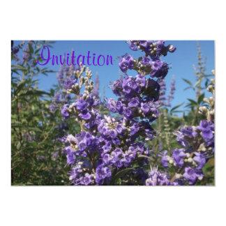 Chaste Tree Purple Flowers 13 Cm X 18 Cm Invitation Card