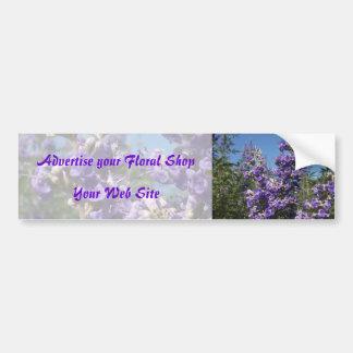 Chaste Tree Purple Flowers Car Bumper Sticker