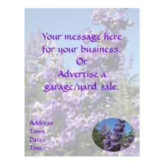 Chaste Tree Purple Flowers Flyer