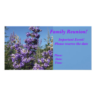 Chaste Tree Purple Flowers Personalized Photo Card