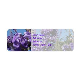 Chaste Tree Purple Flowers Return Address Label