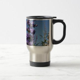 Chaste Tree Purple Flowers Stainless Steel Travel Mug