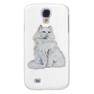 Chat Blanc Samsung Galaxy S4 Cases