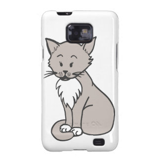 Chat gris galaxy s2 case