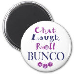 chat,laugh,roll - bunco magnets