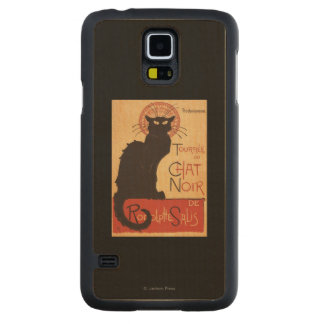 Chat Noir Cabaret Troupe Black Cat Promo Poster Carved Maple Galaxy S5 Case