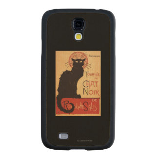 Chat Noir Cabaret Troupe Black Cat Promo Poster Carved® Maple Galaxy S4 Slim Case