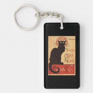 Chat Noir Cabaret Troupe Black Cat Promo Poster Double-Sided Rectangular Acrylic Key Ring