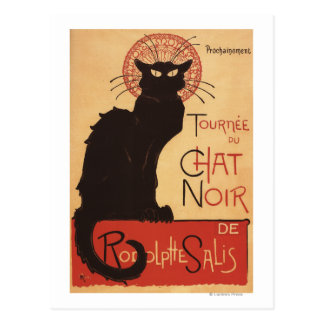 Chat Noir Cabaret Troupe Black Cat Promo Poster Postcard
