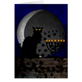 Chat Noir Chanukah Card