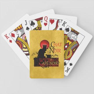 Chat Noir et Café Noir Playing Cards