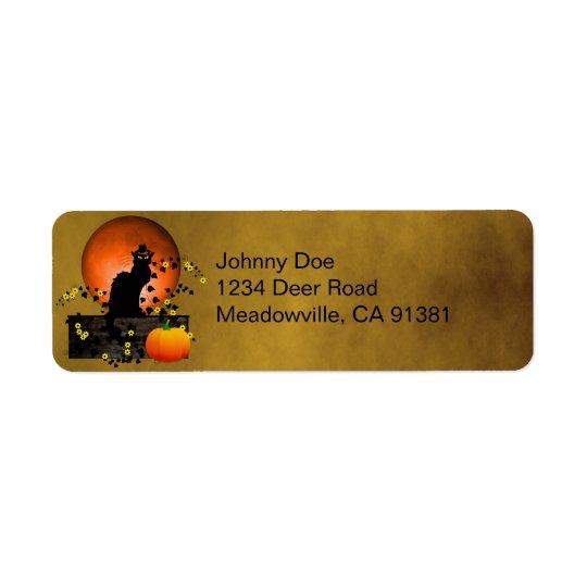 Chat Noir Thanksgiving Return Address Label