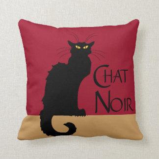 Chat Noir Vintage Throw Pillow