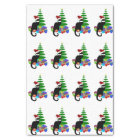Chat Noir With Christmas Tree and Gifts Tissue Paper