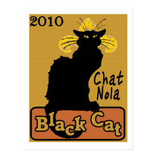 Chat Nola, Black Cat, 2010 Postcard