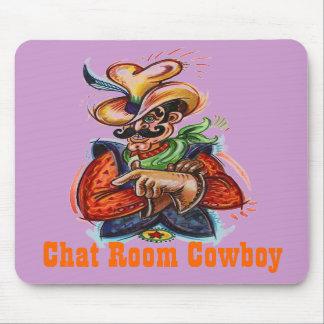 Chat Room Cowboy c OriginalConcept Mousepads